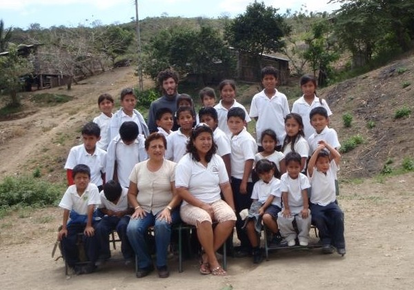 Teaching kids in Ecuador